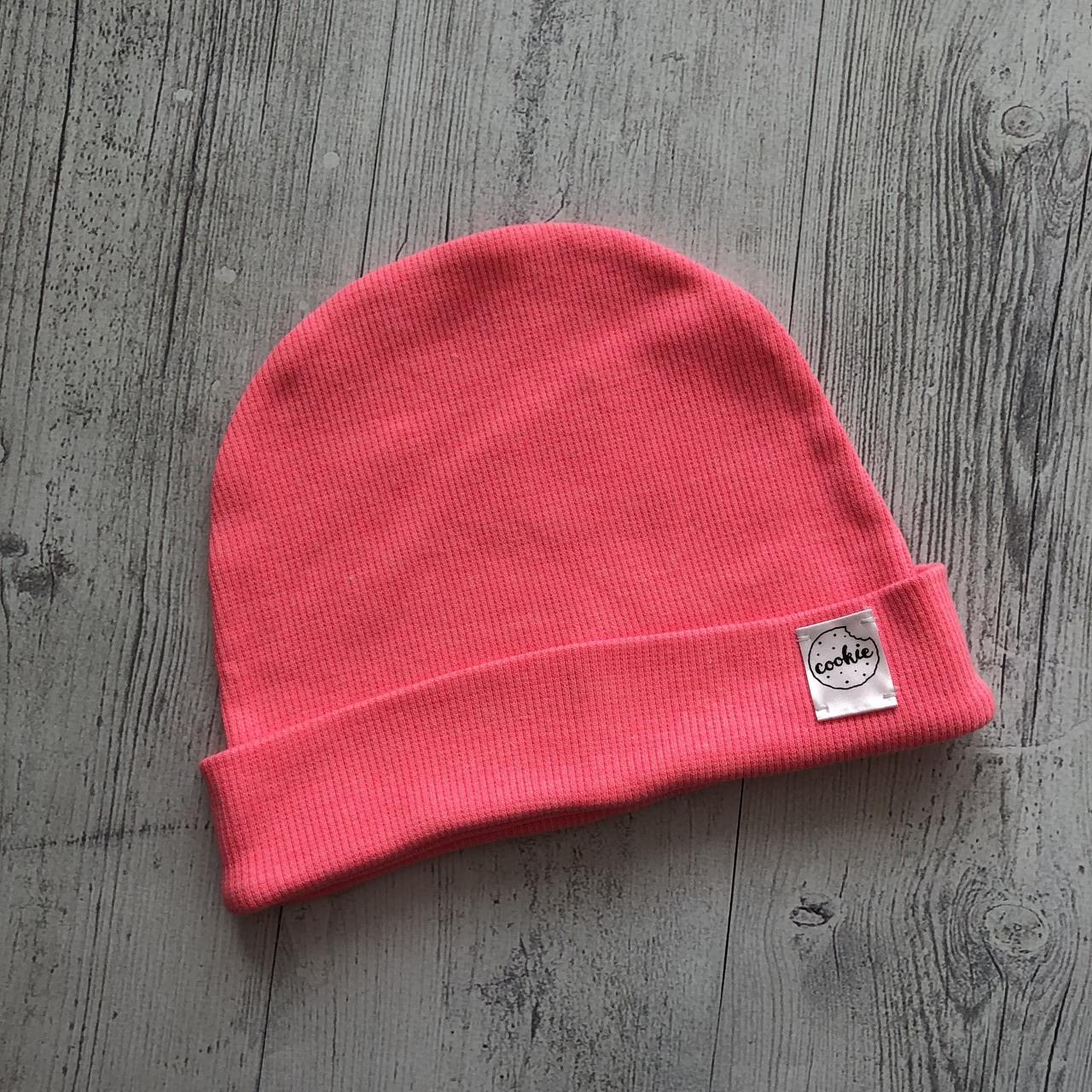 Дитяча шапка одношарова Рожевий неон 36-44