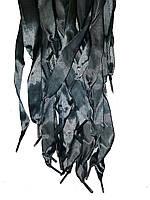 Шнурки плоскі атласні Темно сірі 20мм 100см