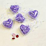 Сердечко прозрачное для декора, фото 2