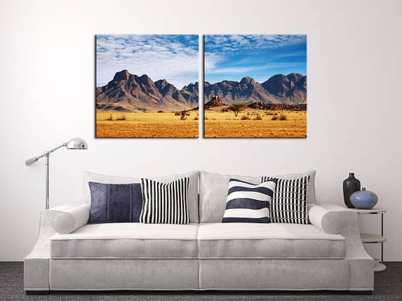 """Модульная картина """"Американская пустыня"""", фото 2"""