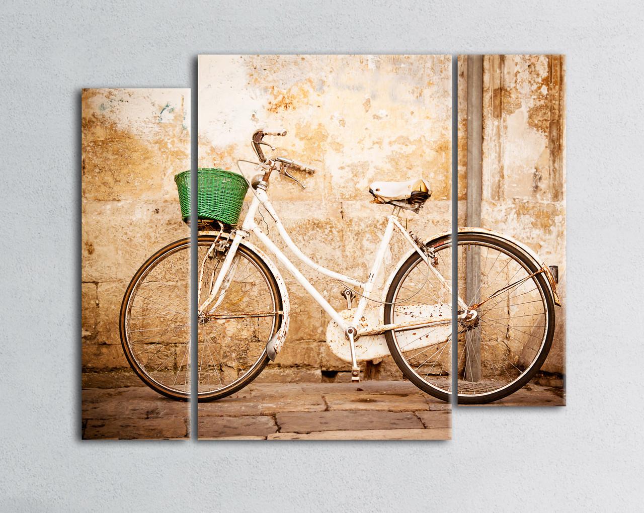 """Модульная картина """"Прогулка на велосипеде"""""""