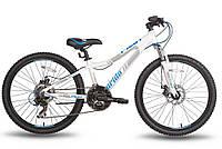 Велосипед 24'' PRIDE PILOT бело-синий матовый 2015