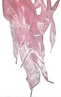 Шнурки плоские атласные Светло розовые 20мм 100см