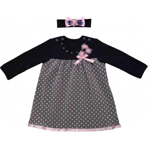 Платье KID JOY 35-02-11.398 интерлочное