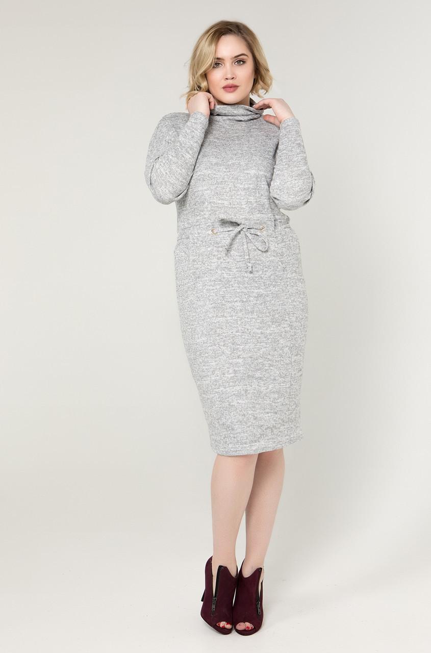 Платье Реджи 50-58 серый