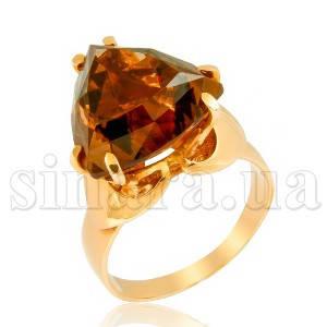 Золотое кольцо с раух топазом 6883