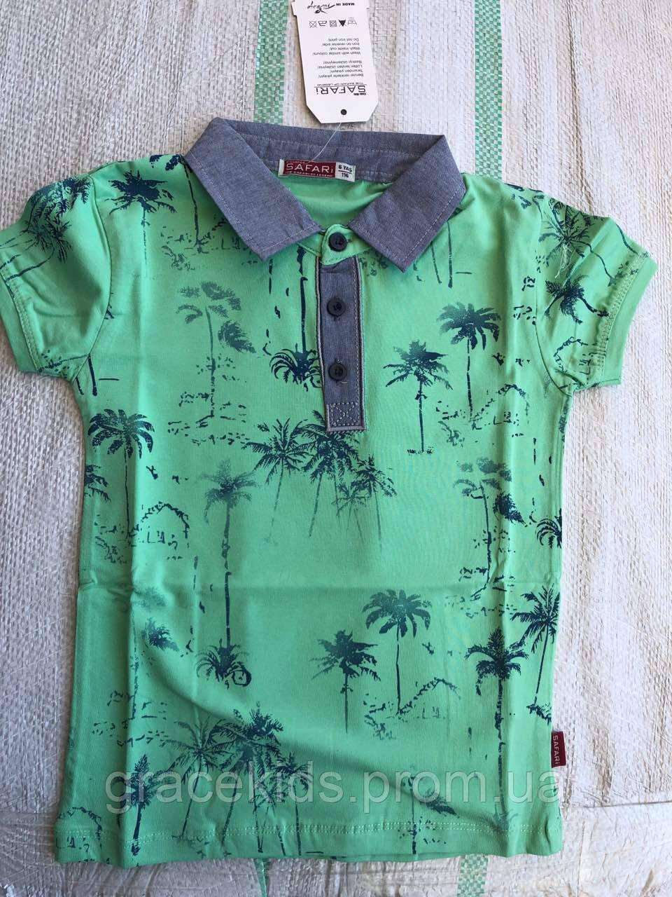 Детские футболки поло для мальчиков SAFARI,разм 6-9лет,95% хлопок