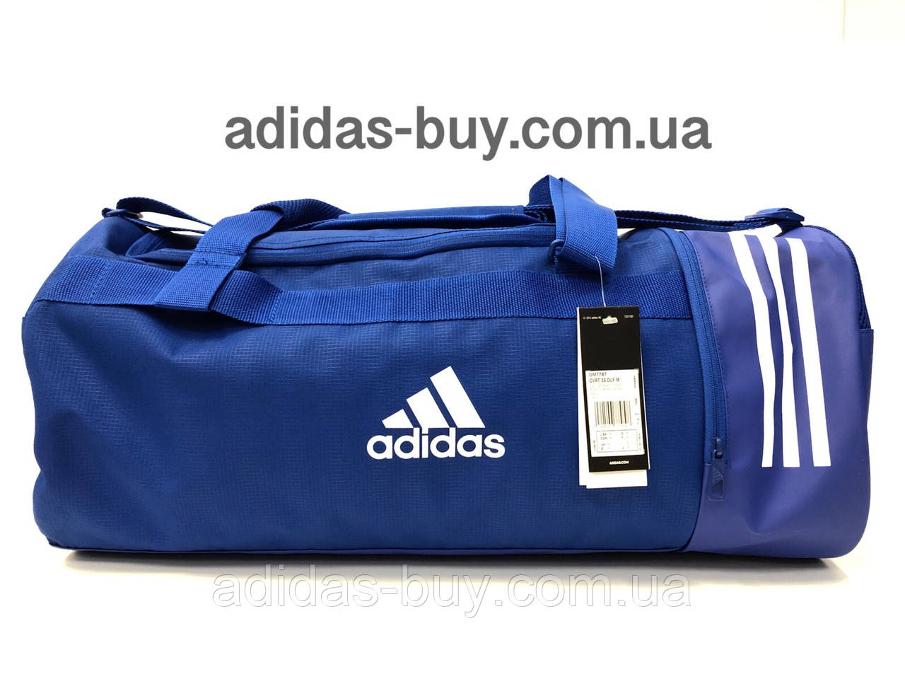 5f65542934eb Сумка спортивная дорожная adidas CONVERTIBLE 3-STRIPES оригинальная DM7787  цвет: синий - ORIGINAL SHOES
