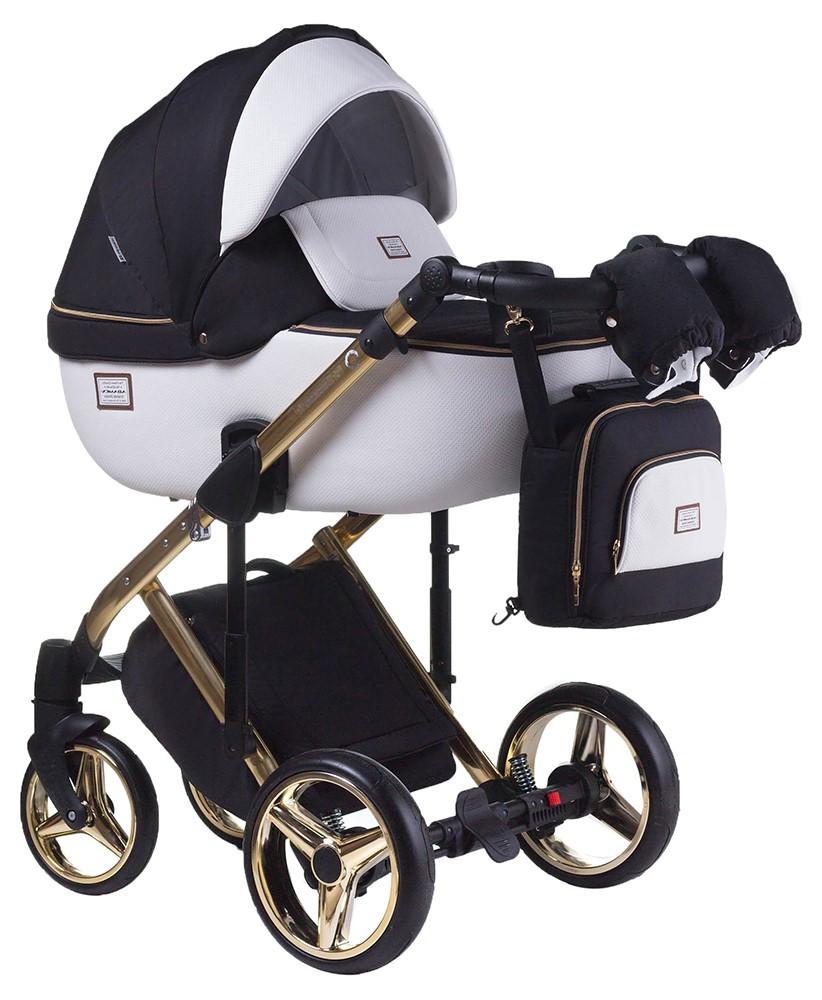 Детская универсальная коляска 2 в 1 Adamex Luciano Polar Gold Y802