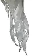 Шнурки плоские атласные Белые 20мм 100см