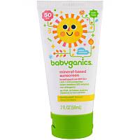 """Детский солнцезащитный лосьон BabyGanics """"Mineral-based Sunscreen"""" на основе минералов, SPF 50+ (59 мл)"""