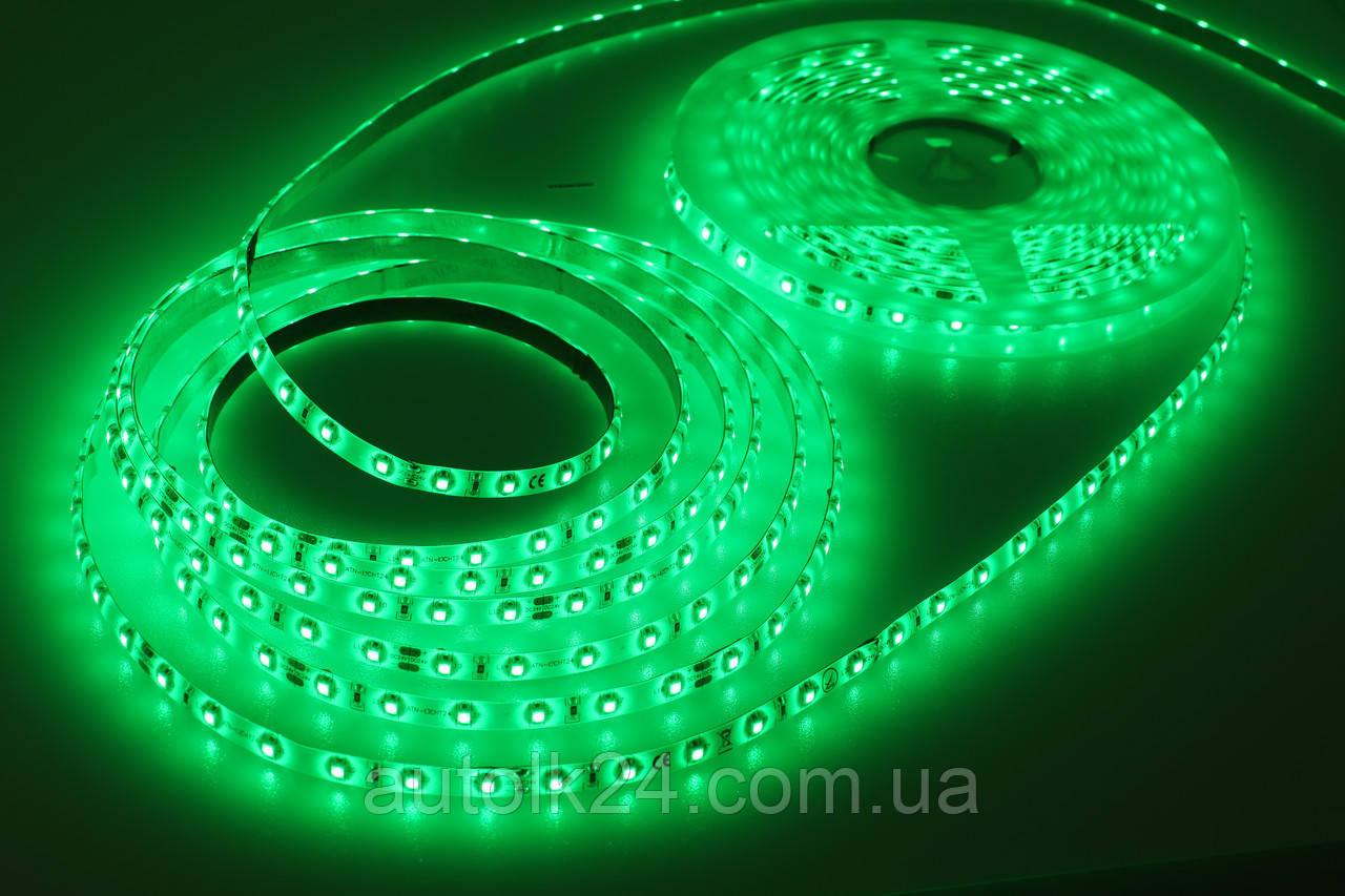 Светодиодная Led лента 24V 10м (влагозащитная) Зеленый цвет