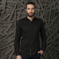 Рубашка мужская черная Semco