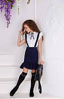 Детская облегающая юбка с воланом