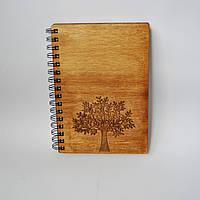 Деревянный блокнот Дерево тонированный