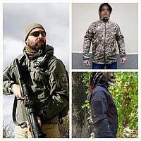 Тактическая куртка Soft Shell Typhon (Тайфун) Непромокаемая Черный c63279438c6bf