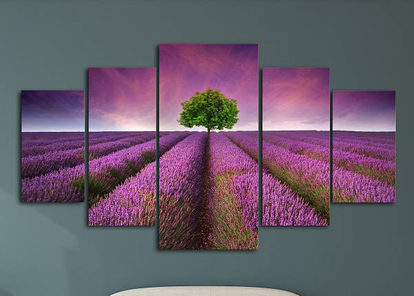 """Модульная картина """"Цветочная долина"""", фото 2"""