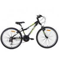 """Велосипед 24"""" PRIDE BRAVE черно-зелёный матовый 2015"""