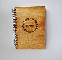 Деревянный блокнот NOTES тонированный, фото 1