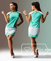 """Стильное молодежное платье мини """" Гипюр и вставки-сетка """" Dress Code"""