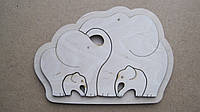 """Дитячий дерев'яний Пазл """"Сімейка слонів"""""""