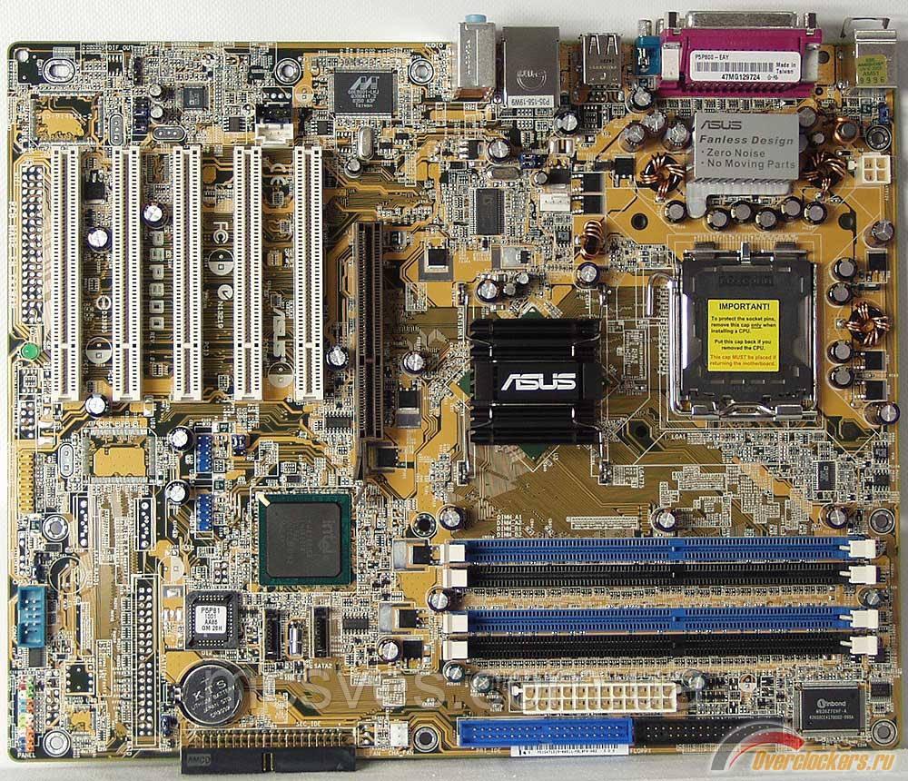 Материнская плата Asus P5P800 (s775, 2xSATA, 4xDDR, 5xPCI, AGP, uATX) (P5P800)