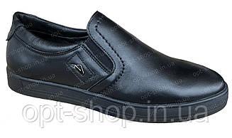 Кеды мужские кожаные черные