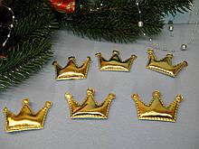 Патчи корона из эко-кожи цвет золотой 5.5 см на 3.8 см