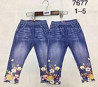 Лосины с имитацией джинсы для девочек Lemon Tree оптом, 1-5 лет.