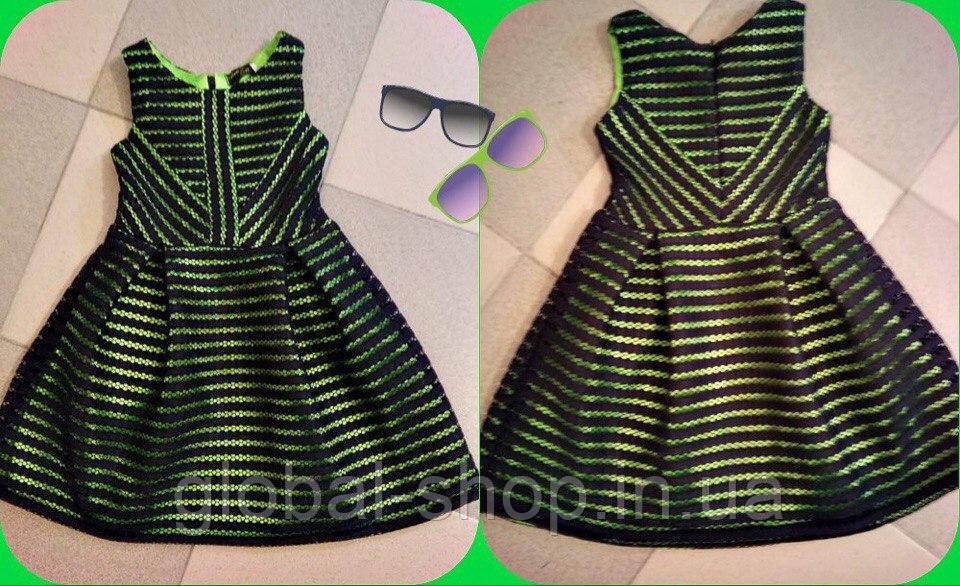 Платье детское неопрен для девочки,Рост 116см,122см,128см,134см, мод 0620