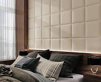 Готовые дизайнерские решения.!!! Мягкая стеновая панель из экокожи SOFITEL.  Размер 40х40 см. Любой цвет, фото 8