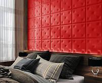 Готовые дизайнерские решения.!!! Мягкая стеновая панель из экокожи SOFITEL.  Размер 40х40 см. Любой цвет, фото 9