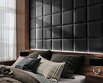 Готовые дизайнерские решения.!!! Мягкая стеновая панель из экокожи SOFITEL.  Размер 40х40 см. Любой цвет, фото 10