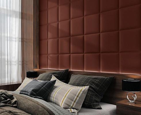 Готовые дизайнерские решения.!!! Мягкая стеновая панель из экокожи SOFITEL.  Размер 40х40 см. Любой цвет
