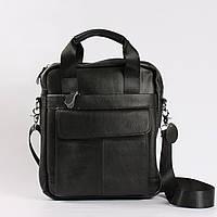 """Большая мужская кожаная сумка черная """"Шерлок Black"""", фото 1"""