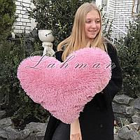 Подушка - игрушка сердце  70х55 см. цвет розовый