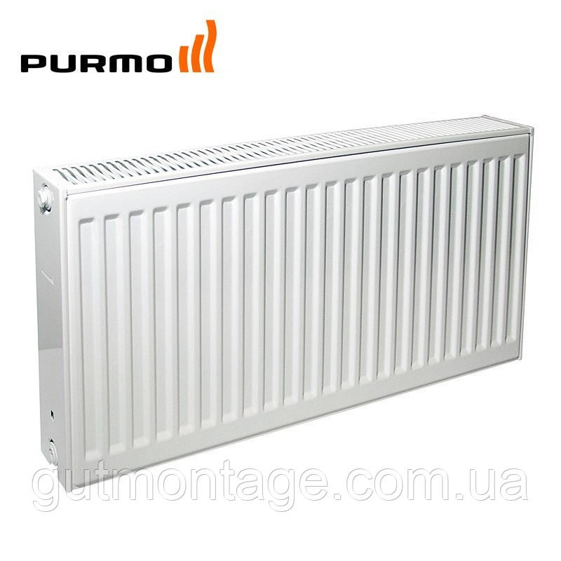 Стальной радиатор Purmo. 22й тип, боковое подключение.300х1400. Монтаж раиаторов в Одессе.