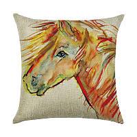 Подушка декоративная Рыжий конь 45 х 45 см Berni, фото 1