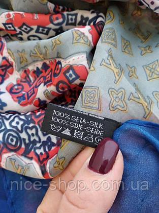 Палантин Louis Vuitton шелк, карта мира, фото 3