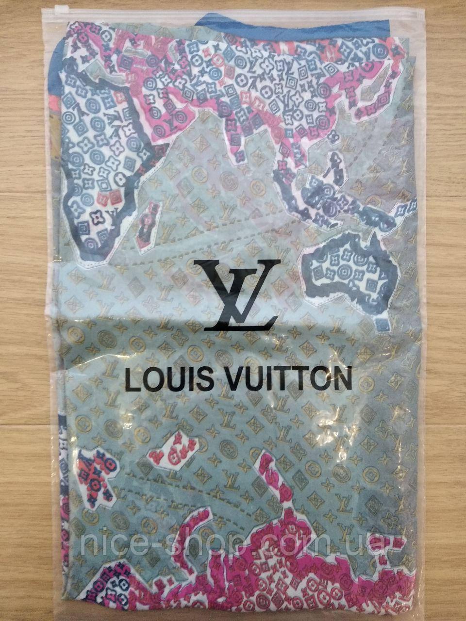 Палантин Louis Vuitton шелк, карта мира