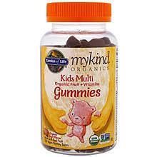 """Поливитамины для детей Garden of Life, MyKind Organics """"Kids Multi Gummies"""" фруктовый вкус (120 мишек)"""