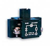 Держатель ламп HC22N1, резистор, диод, 1НО, для BA9S, для корп.