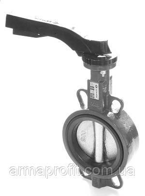 Заслонка поворотная Баттерфляй ZETKAMA Ду100 Ру16 диск чугун тип 497B(С67)