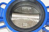 Заслонка поворотная Баттерфляй ZETKAMA Ду100 Ру16 диск чугун тип 497B(С67), фото 7