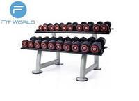 Набор гантелей 2,5кг-50кг полиуретановые с интервалом 2,5кг Apus Sports