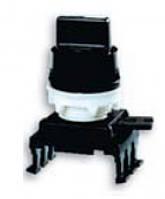 Переключатель поворотн. 3-х поз. HL65C3 с фикс. 1-0-2, 30° (черный)