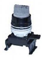 Переключатель поворотн. 3-х поз. HL66C2 с подсв. с фикс 1-0-2, 30° (зел.)
