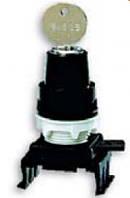 Переключатель поворотн. 3-х поз. с ключом HL85C3, с фикс. 1-0-2, 30°, (черн.)