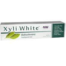 """Зубная гель-паста NOW Foods, Solutions """"Xyli-White"""" освежающая, вкус свежей мяты (181 г)"""