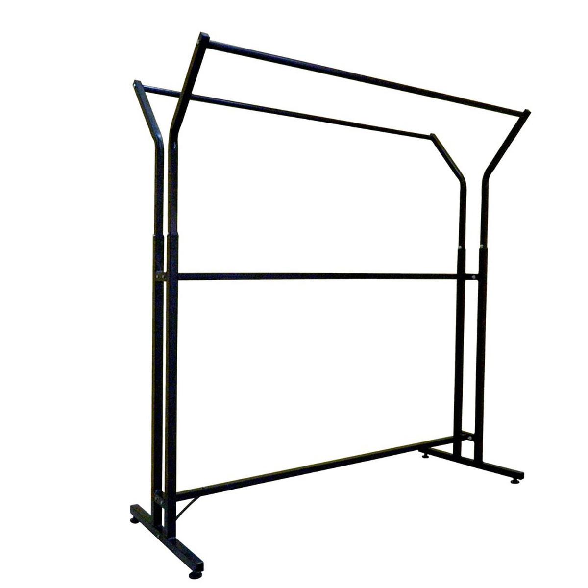 Стойка-вешало металлическая 155 см на две стороны для одежды на колесах (от производителя)